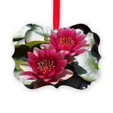 Red Lotus Flower Ornament