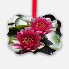 Red Lotus Flower Picture Ornament