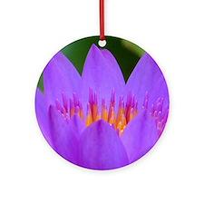 Lotus Flower Round Ornament