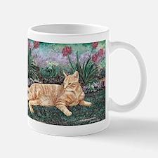 Orange Tabby Cat Mug with right side art