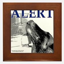 Belgian Malinois Alert Nose work Searc Framed Tile