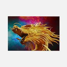 Golden Dragon Rectangle Magnet