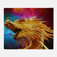 Golden Dragon Throw Blanket