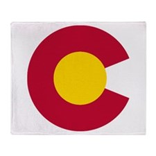 Colorado State Flag C Throw Blanket
