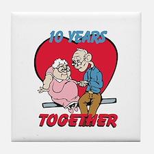 Custom Funny Anniversary Tile Coaster