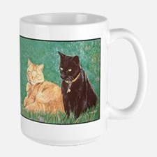 Puma Cats Large Mug, right side art