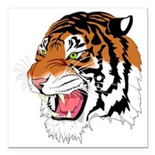 "Tiger Square Car Magnet 3"" x 3"""
