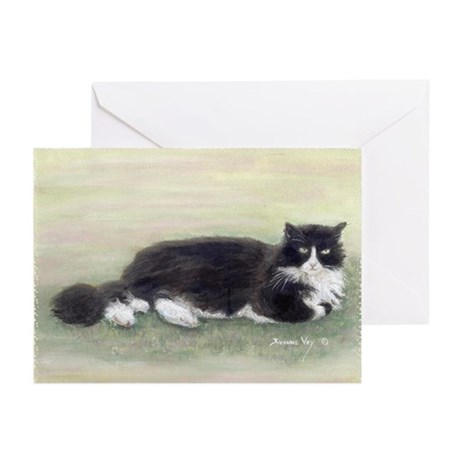 Julio the Cat Greeting Cards, 10 Pk blank inside