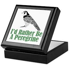 Rather Be A Peregrine Keepsake Box