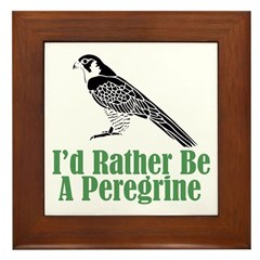 Rather Be A Peregrine Framed Tile