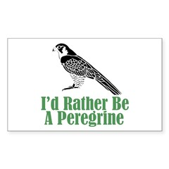 Rather Be A Peregrine Rectangle Sticker