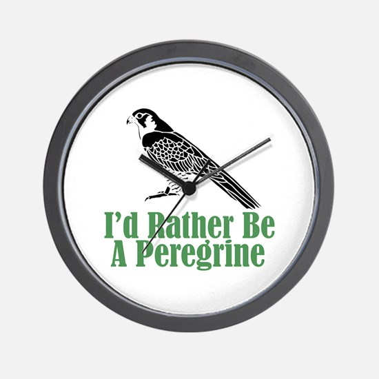 Rather Be A Peregrine Wall Clock (w/out numbers)