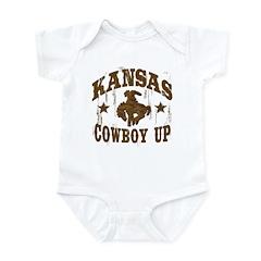 Kansas Cowboy Up! Infant Bodysuit