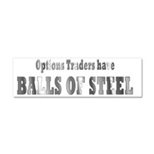 Options traders have balls of st Car Magnet 10 x 3