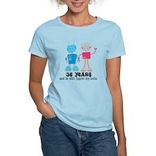 36 Year Anniversary Robot Couple T-Shirt