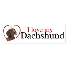 Love My Dachshund Bumper Bumper Sticker
