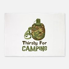 Thirsty for Camping 5'x7'Area Rug
