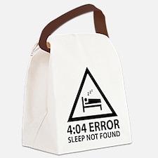 4:04 Error Sleep Not Found Canvas Lunch Bag