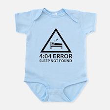 4:04 Error Sleep Not Found Infant Bodysuit