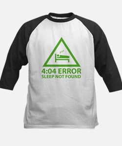 4:04 Error Sleep Not Found Kids Baseball Jersey