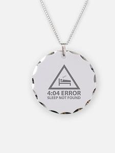 4:04 Error Sleep Not Found Necklace
