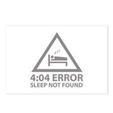 4:04 Error Sleep Not Found Postcards (Package of 8