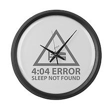 4:04 Error Sleep Not Found Large Wall Clock