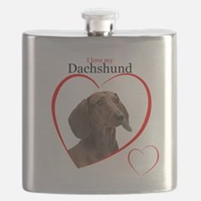 Love My Dachshund Flask