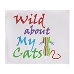 Wild About My Cats Throw Blanket