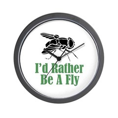 Rather Be A Fly Wall Clock (w/out numbers)