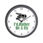 Rather Be A Fly Wall Clock (w/numbers)