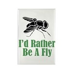 Rather Be A Fly Rectangle Magnet (100 pack)