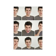 Man face expressions Rectangle Magnet