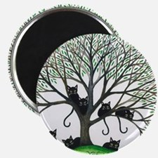 Borders Black Cats in Tree by Lori Alexande Magnet