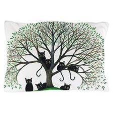 Borders Black Cats in Tree by Lori Ale Pillow Case
