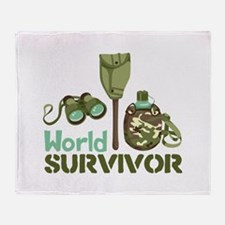 World Survivor Throw Blanket