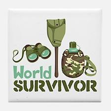 World Survivor Tile Coaster