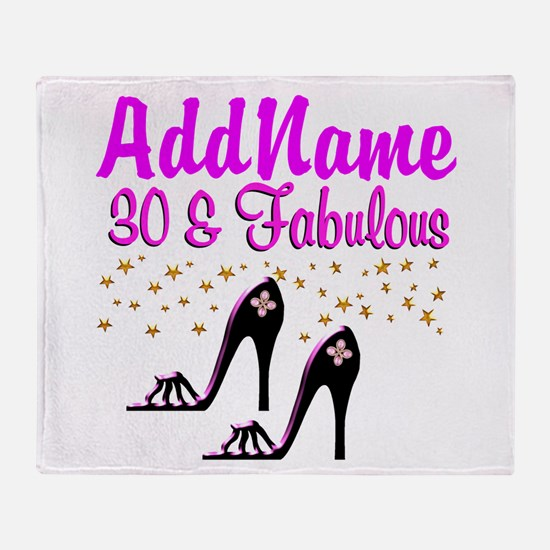 30TH HIGH HEEL Throw Blanket