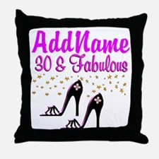30TH HIGH HEEL Throw Pillow