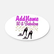 30TH HIGH HEEL Oval Car Magnet