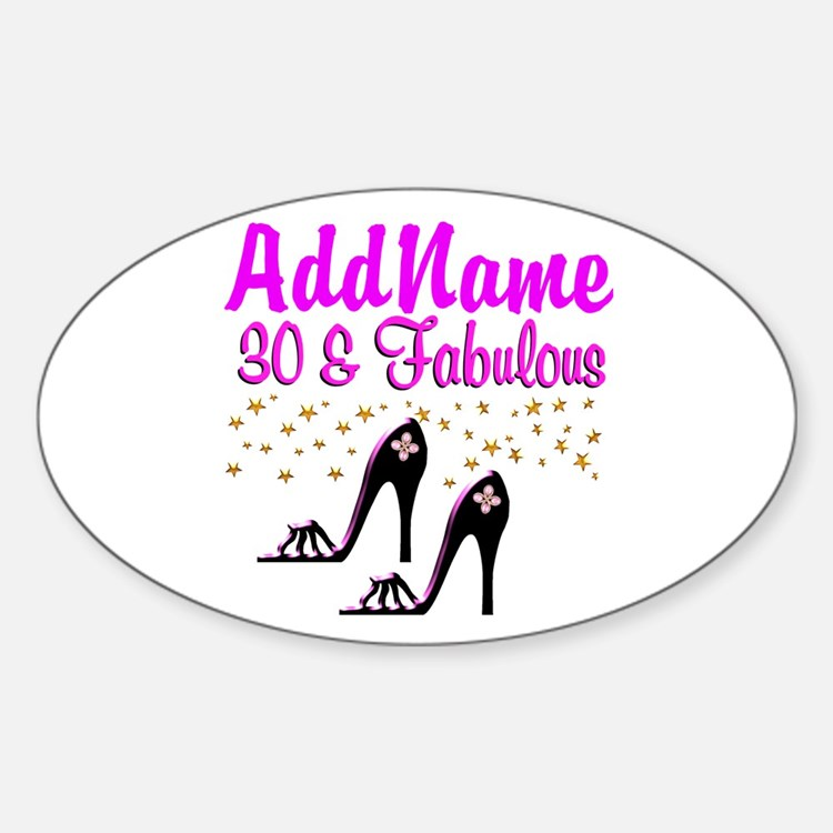 30TH HIGH HEEL Decal
