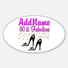 30TH HIGH HEEL Sticker (Oval)
