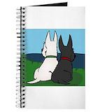Scottish terrier wheaten Journals & Spiral Notebooks