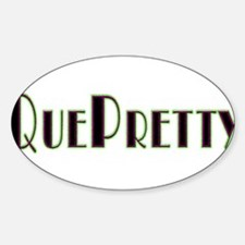 QuePretty Oval Decal
