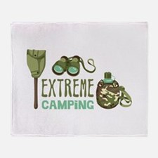 Extreme Camping Throw Blanket