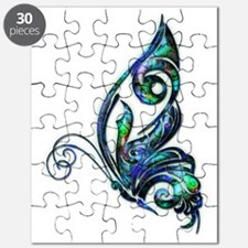 Abalone Shell Art Deco Butterfly Puzzle
