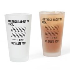 Those About To Rock Drinking Glass