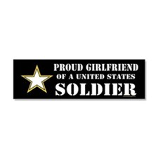 Unique Military girlfriend Car Magnet 10 x 3