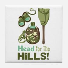 Head for the Hills Tile Coaster