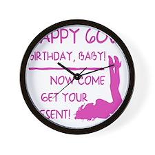 Sexy 60th Birthday Wall Clock